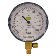 Refco 80mm Vacuum Gauge  1000-0 mbar with Safety Valve